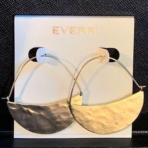 EVERRI Hand Hammered Brass Earrings